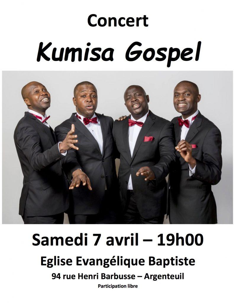 Concert gospel avec le groupe Kumisa