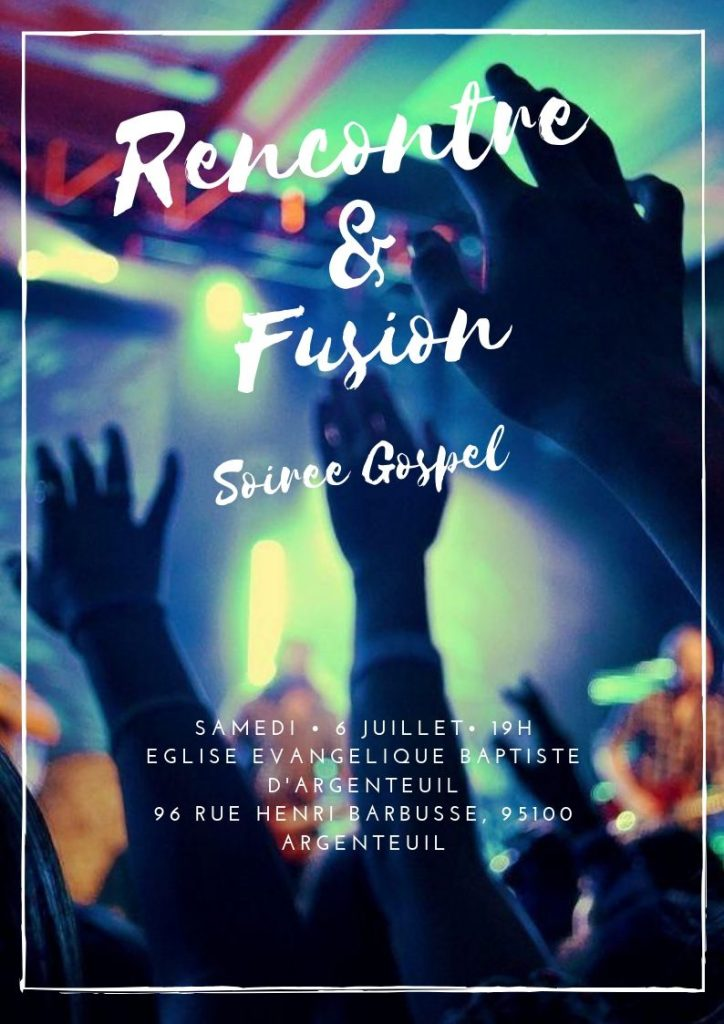 Notre prochaine soirée gospel : rencontre et fusion